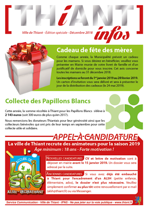 Thiant Infos - édition spéciale - décembre 2018