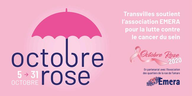 Transvilles se mobilise pour soutenir octobre rose 2020