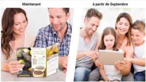 Évolution de la communication du menu de la cantine